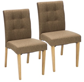 Home4you Chairs Enrich 2 pcs Brown