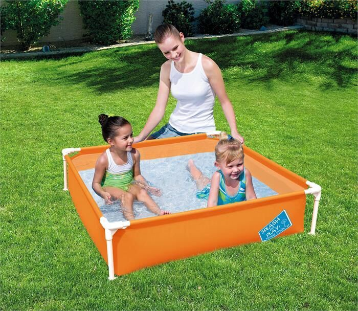 Bassein Bestway My First Frame Pool 56217, sinine/roheline/oranž, 365 l