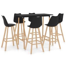 Обеденный комплект VLX 7 Piece 3056207, черный/коричневый
