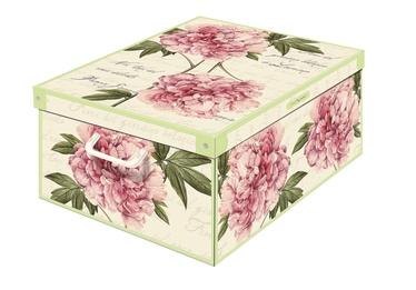Dėžė su dangčiu ir rankena, 42 x 32 x 17,5 cm