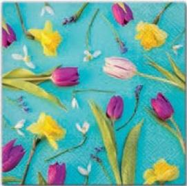 Paw Decor Collection Spring Composition Napkins 33x33cm