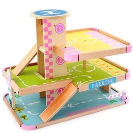 Funikids Wooden Parking With Elevator
