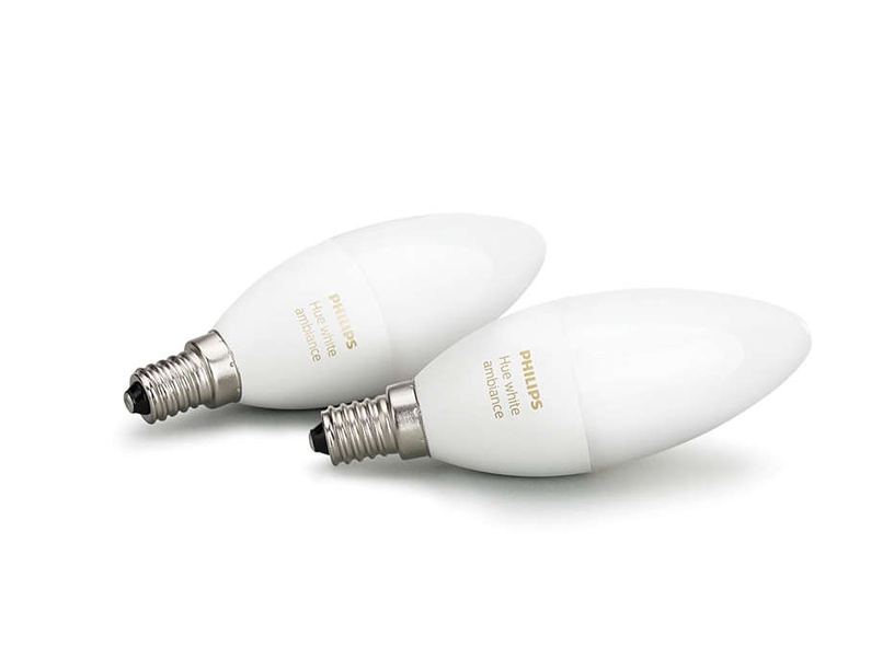 Philips LED Hue White Bulb E14 6W B39 2-Pack