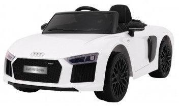 Naujausias licencijuotas baltas elektromobilis AUDI R8