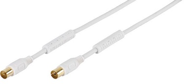 Vivanco HQ TV/Radio Antenna Cable White 5m 48121