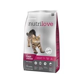 Sausas ėdalas katėms Nutrilove Adult, su vištiena, 1.5 kg