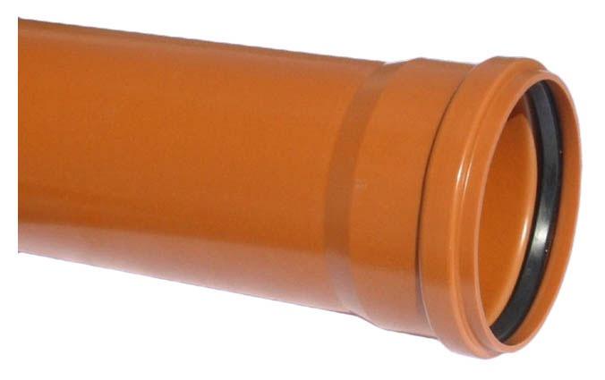 Caurule ārēja D160 SN4 2m PVC (Magnaplast)
