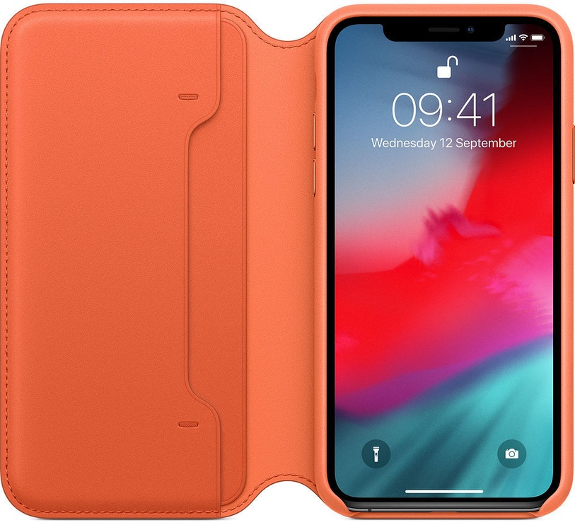 Apple Leather Folio Case For Apple iPhone XS Sunset