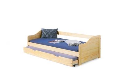 Dvigulė vaikiška lova Laura, 2 x 90 x 200 cm