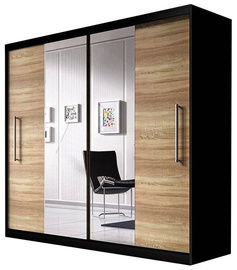 Idzczak Meble Wardrobe Rico Black/Sonoma Oak