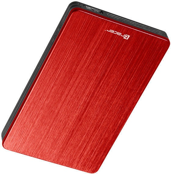 "Tracer 724 AL 2.5"" SATA USB 3.0 Enclosure Red"