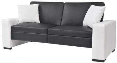 Диван-кровать VLX Universal 245001, белый/черный, 175.5 x 81.5 x 81 см