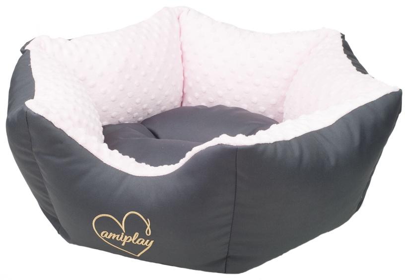 Лежанка Amiplay Babydoll Crown Bed L 68x23cm Pink