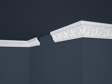 Lubų apdailos juostelės B-5, balta, 200 x 5.6 cm