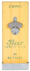Home4you Jardin Bottle Opener Yellow Wood