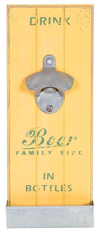Home4you Jardin Bottle Opener Yellow Wood
