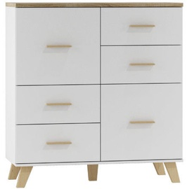 Komoda Cama Meble Lotta 110 2D4S Sonoma Oak/White