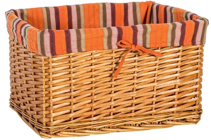 Home4you Basket Max 1 46x32xH26cm Brown/Orange