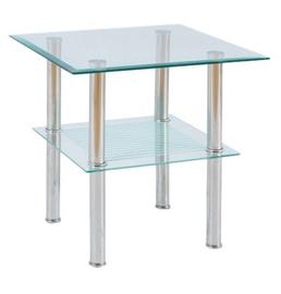 Kafijas galdiņš Signal Meble Pixel C Glass, 500x500x500 mm