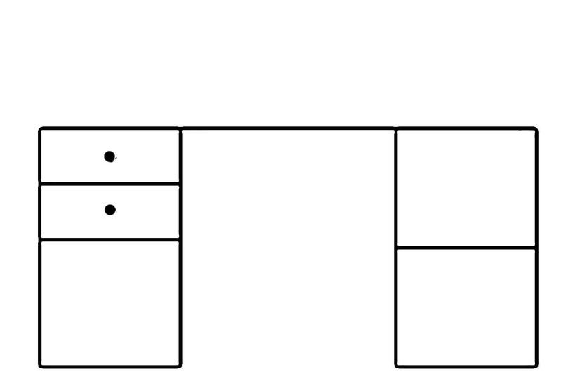 Rašomasis stalas Selene, 158 x 76 x 67 cm