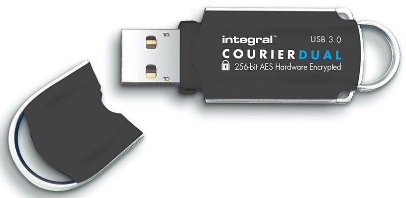 USB atmintinė Integral Courier FIPS 197, USB 3.0, 64 GB