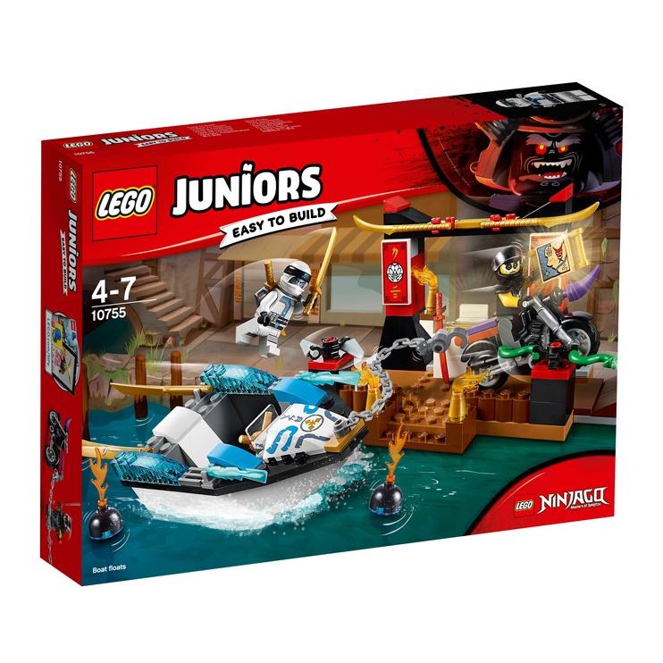 Конструктор LEGO Juniors Zane's Ninja Boat Pursuit 10755 10755, 131 шт.