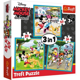 Trefl 3-In-1 Puzzle Mickey Mouse & Friends 20/36/50pcs 34846