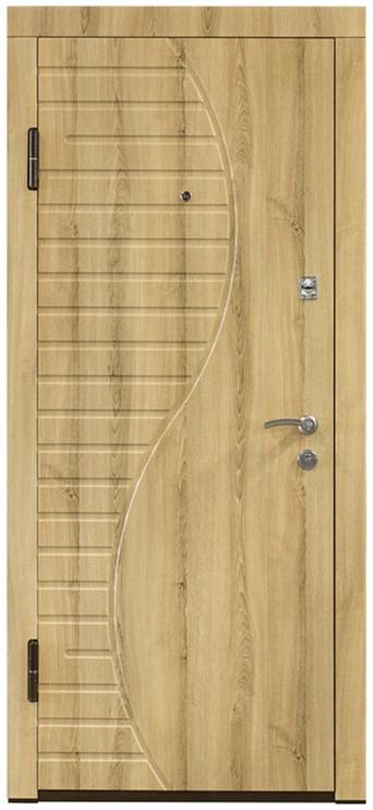 Plieninės vidaus durys PO-23, uosio, kairinės, 86x205 cm