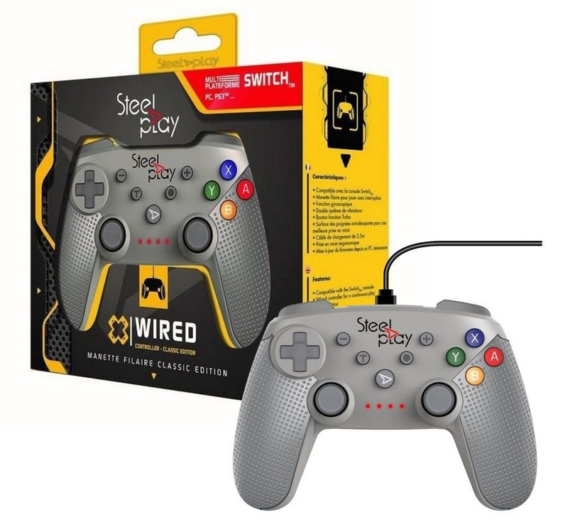 Steel Play Classic Edition Wired Controller Grey