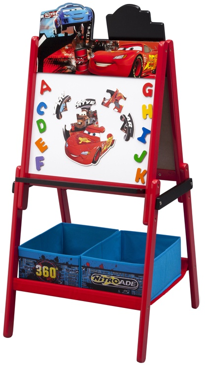 Delta Children Cars Wooden Double Sided Activity Easel