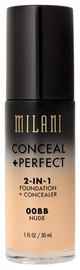 Milani Conceal + Perfect 2in1 Foundation + Concealer 30ml 00BB