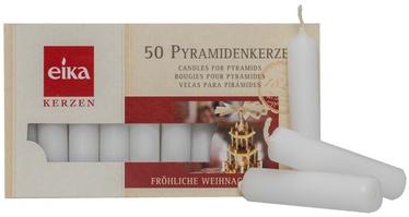 Eika Christmas Tree Candles White 50pcs