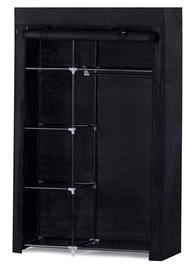 Skapis Homede Nedra, melna, 105x45x175 cm