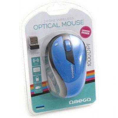 Omega OM-415 Wireless Optical Mouse Blue