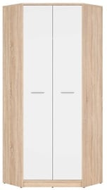 Black Red White Nepo Plus Wardrobe 197x79cm Sonoma Oak/White