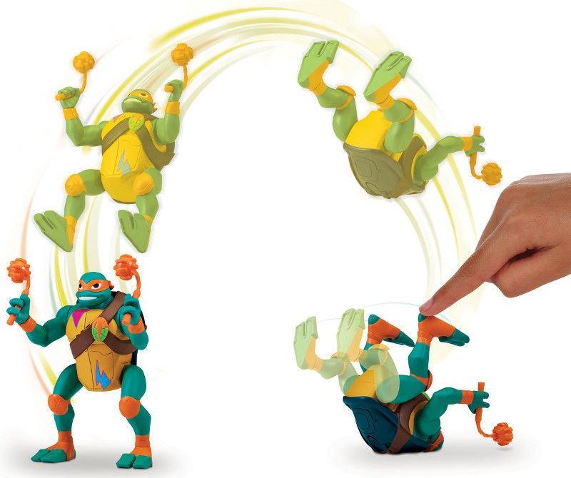 Фигурка-игрушка Playmates Toys Teenage Mutant Ninja Turtles Michelangelo BackFlip Ninja Attack 81403