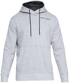 Under Armour Mens Pursuit Microthread Pullover Hoodie 1317416-035 Light Grey S
