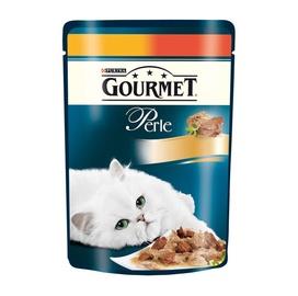 Kassitoit Gourmet Perle kana ja veiselihaga, 85 g