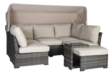 Home4you Valora Garden Furniture Set Grey/Beige