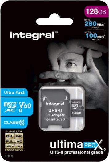 Integral Ultima Pro X2 128GB Micro SDHC UHS-II V60 Cl10