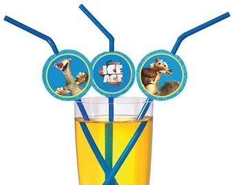 Susy Card Cocktail Straws Ice Age 24cm 10pcs