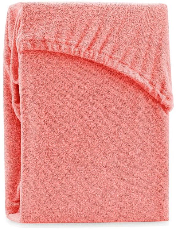 Palags AmeliaHome Ruby, oranža/rozā, 140x200 cm, ar gumiju