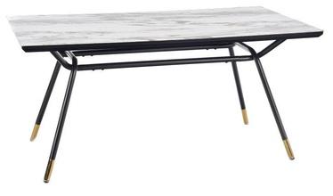 Pusdienu galds Halmar Glamour Gold/Grey/Black, 1600x900x760 mm