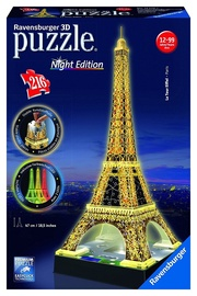 3D dėlionė Ravensburger Eiffel Tower With Lights 125791, 216 dalių