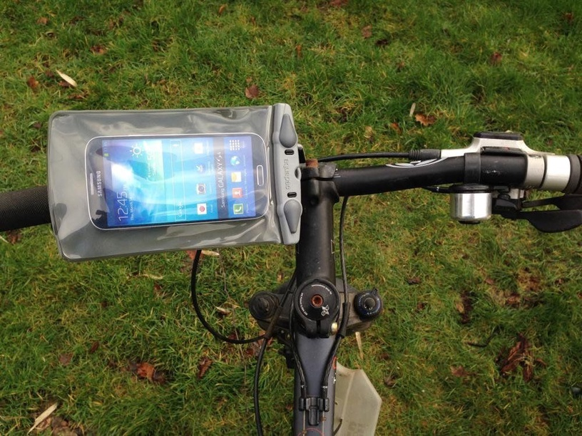 Aquapac Mounted Waterproof Phone Case for Bikes Small
