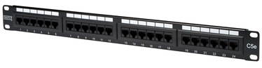 Digitus CAT 5e Patch Panel 24 Port Unshielded Black