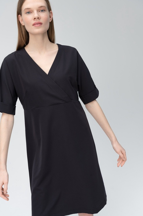 Audimas Light Stretch Fabric Dress Black XS