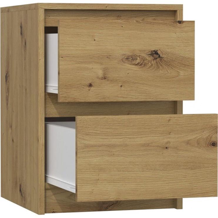 Naktinis staliukas Top E Shop K2 Karo Artisan, ąžuolo, 40x43x55 cm