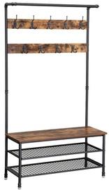 Songmics Coat Rack With Shoe Bench 100x41.5x182cm