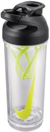 Бутылка для воды Nike Hypercharge, прозрачный/черный/зеленый, 0.7 л